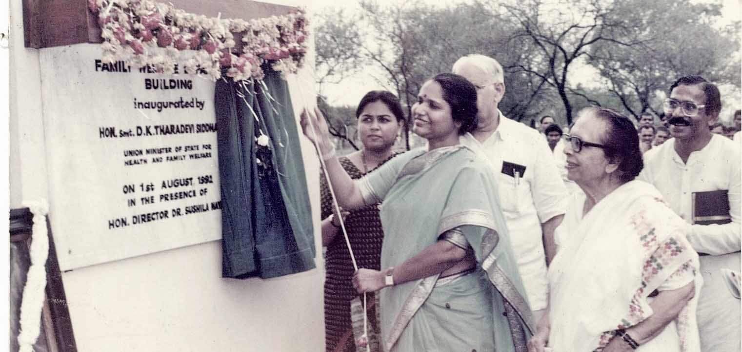Family Welfare Building inaugrated by Union Minister of state Mrs D.K. Taradevi Siddhartha