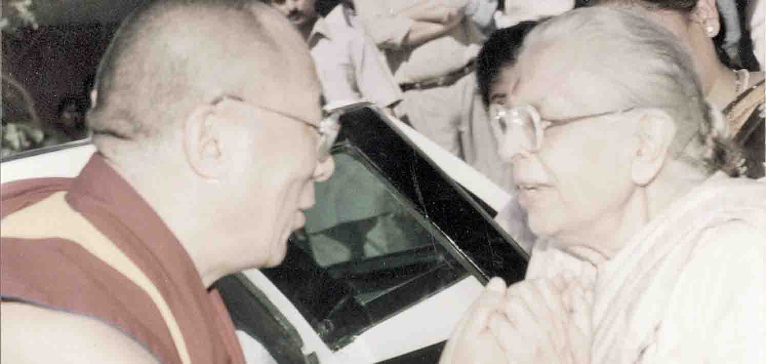 Behenji with Dalai Lama