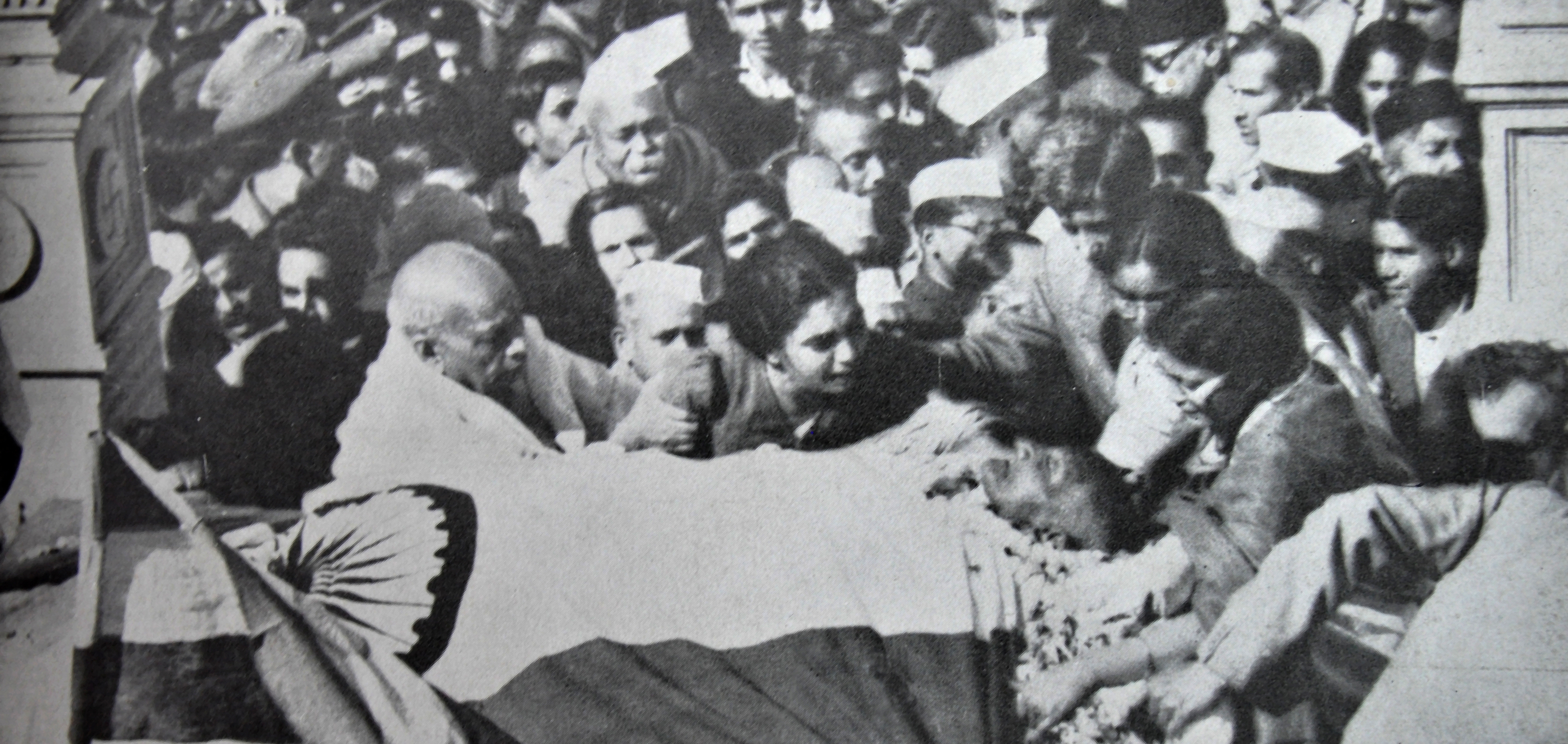 At Mahatma Gandhi's death