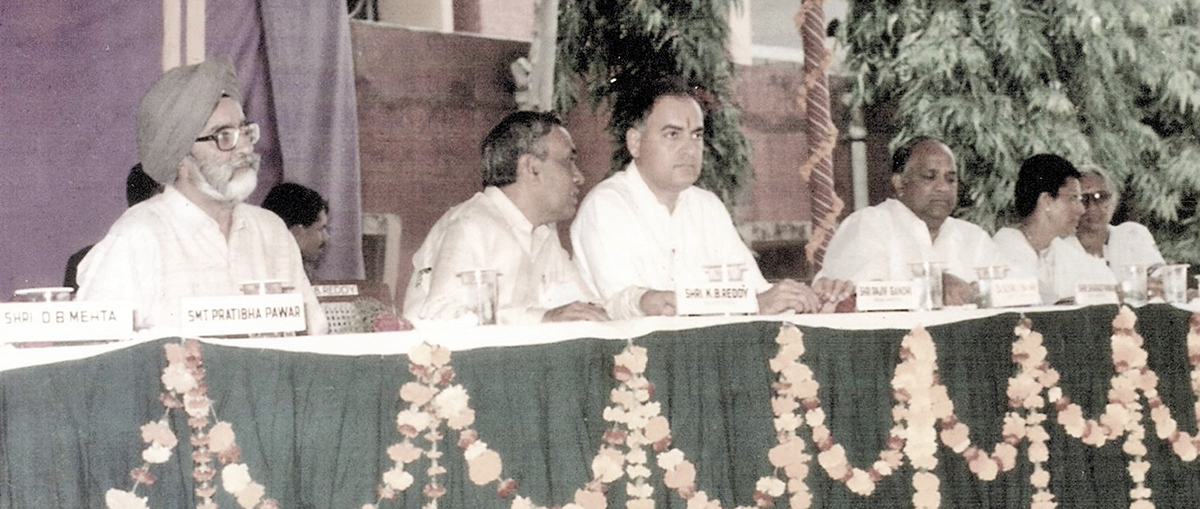 With Rajiv Gandhi- then Prime Minister of India