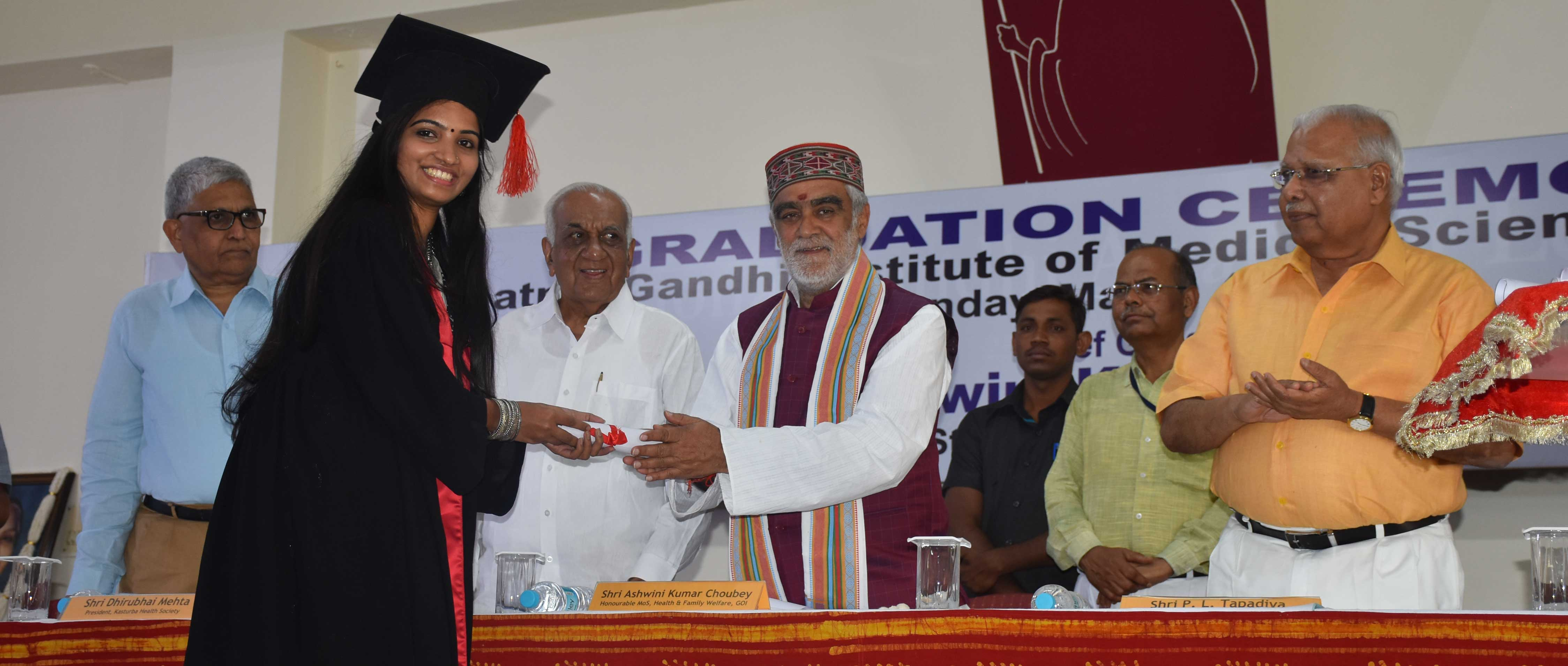 Shri Ashwini Kumar Choubey, MoS Family and Health Welfare patronizes MGIMS' graduation ceremony