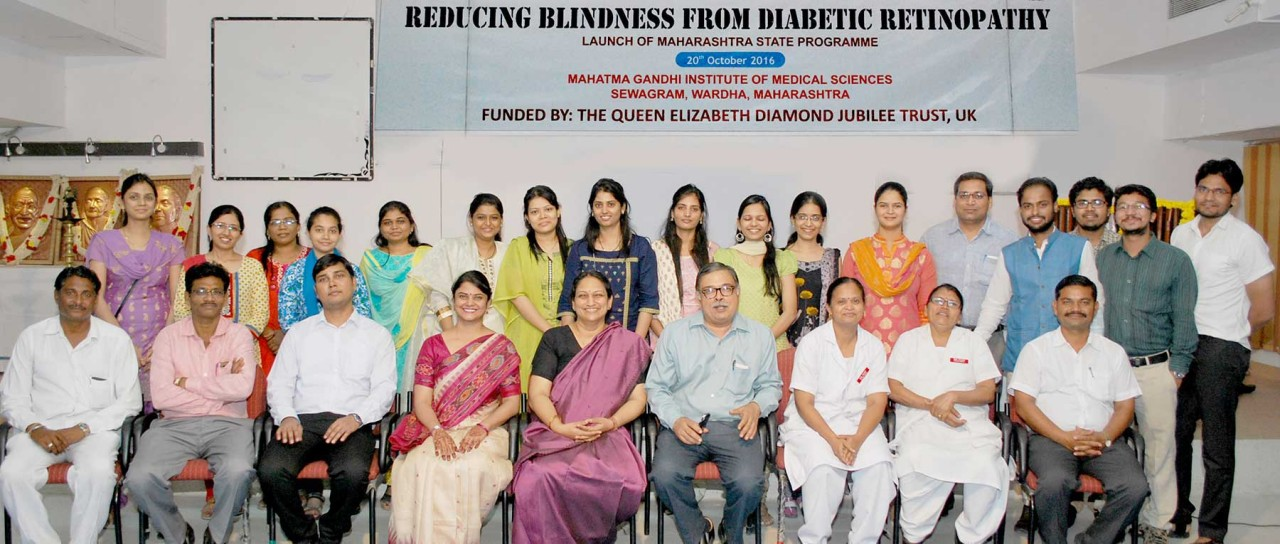 Diabetic care initiatives to prevent blindness from diabetic retinopathy in Wardha