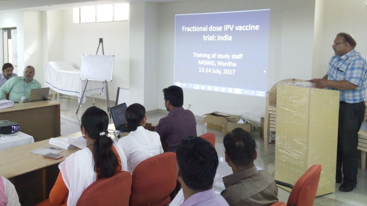 WHO conducts training for Polio Vaccine study at MGIMS