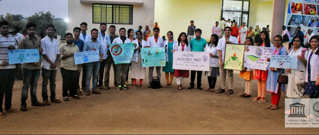 MGIMS takes pledge for pollution free Diwali