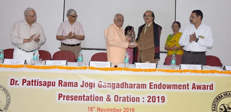 Dr PRJ Gangadharam award conferred on Dr Kamal K Chopra