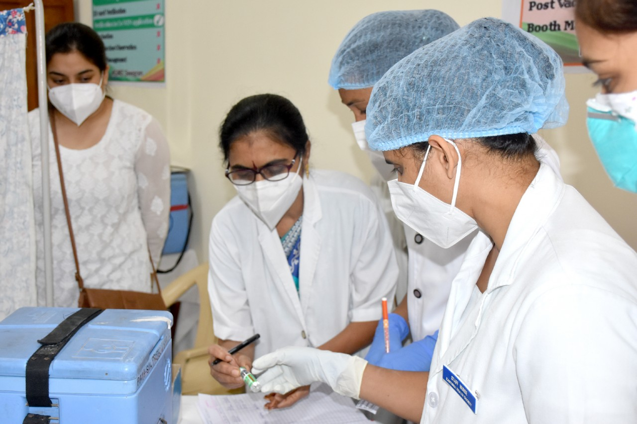 MGIMS administers its first COVID Vaccine