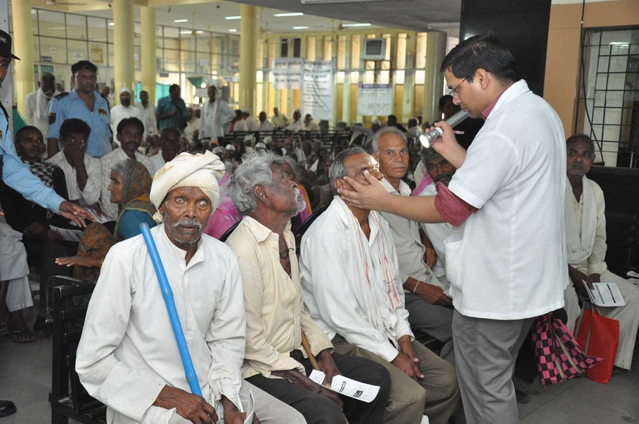 Gandhi Jayanti Eye camp held