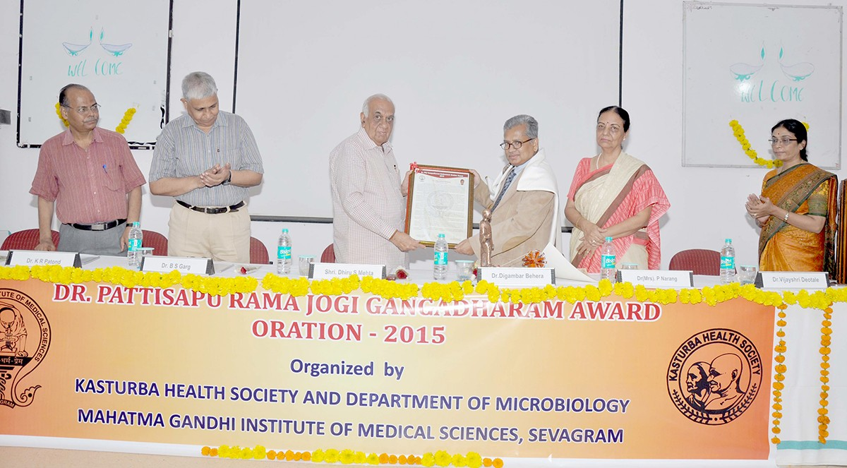 Dr D Behera receives Dr PRJ Gangadharam award