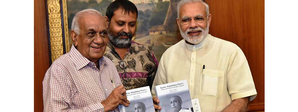 Prime Minister releases book on Sardar Vallabhbhai Patel, authored by Shri Dhiru S Mehta