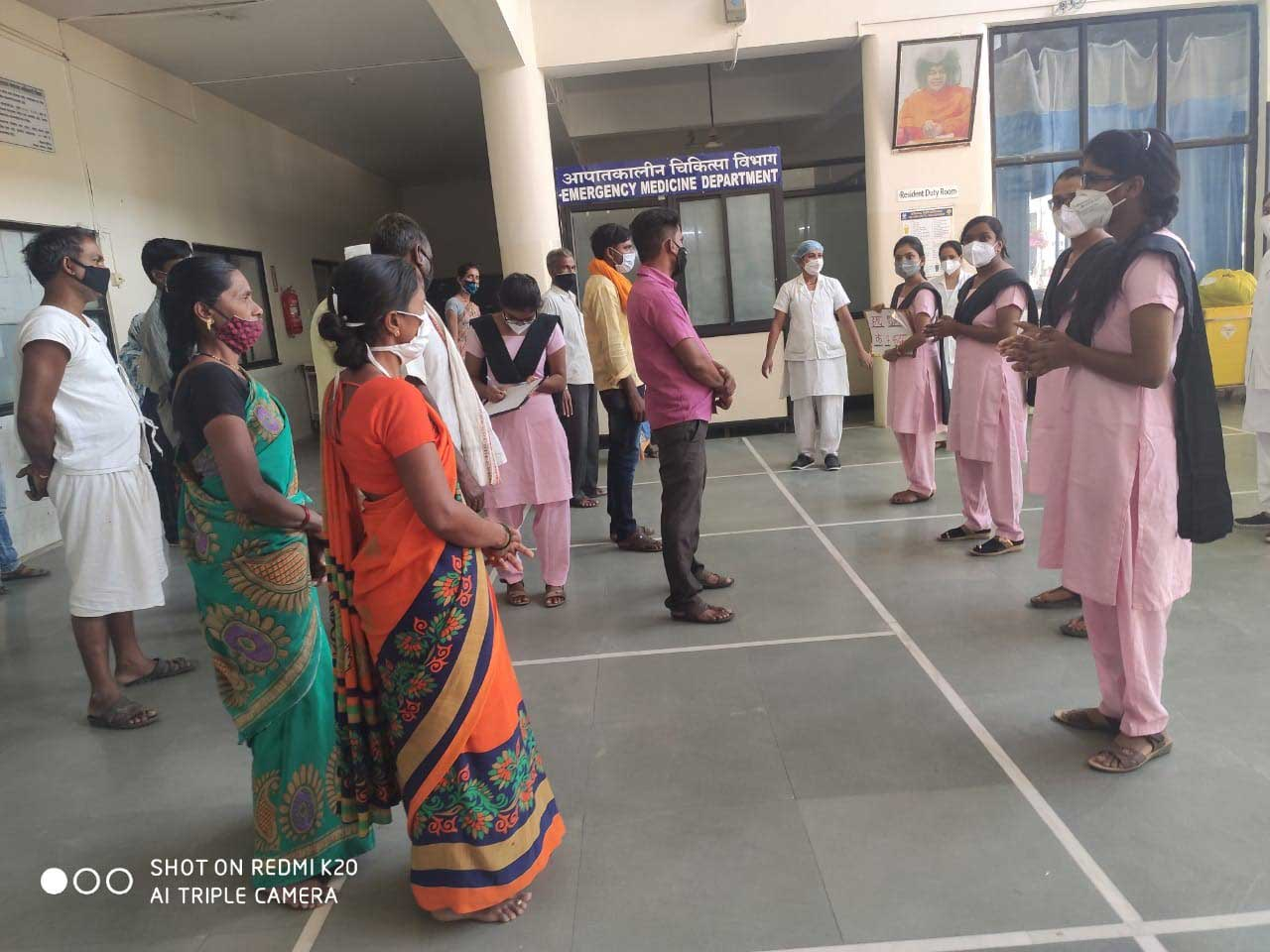 03/04/2021 - Hand Hygiene demonstration By Nursing College Students