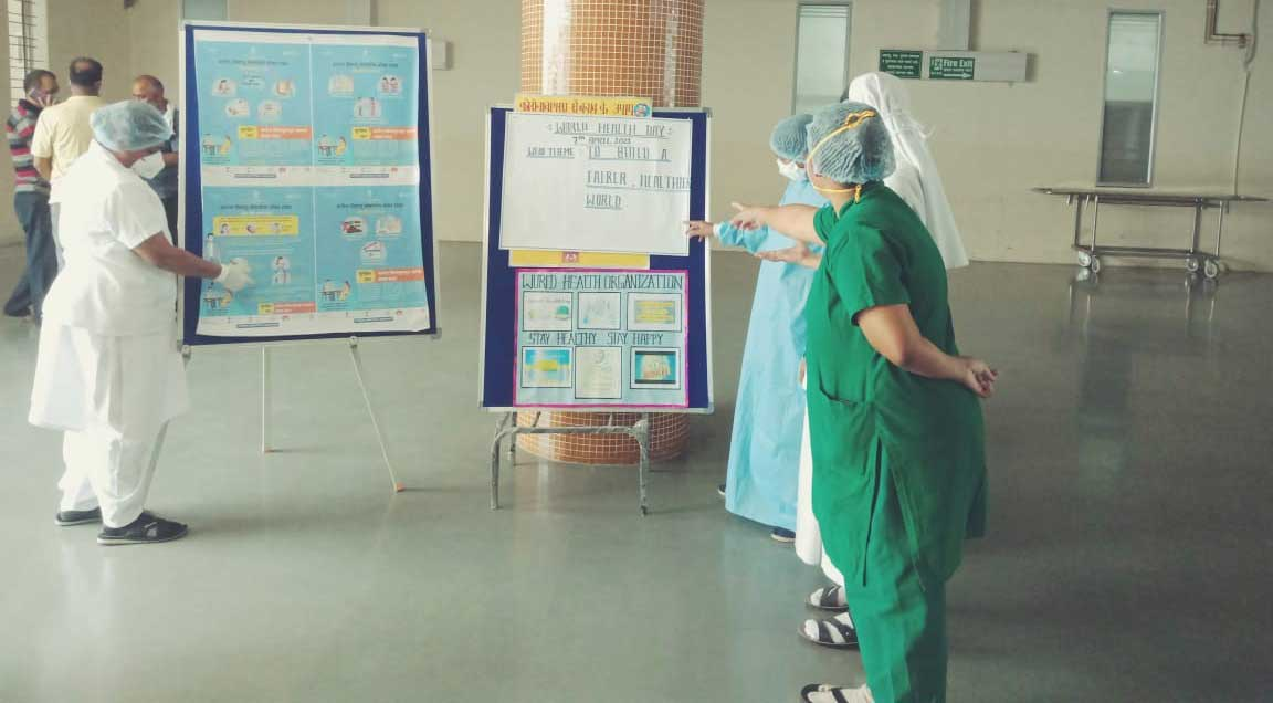 07/04/2021 - Health Education and Poster display near Cathlab