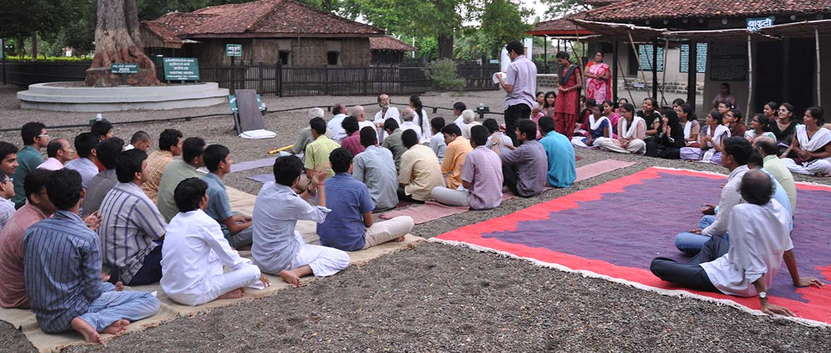 Prayer at Gandhi Ashram